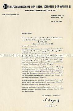 Schreiben Kurt Meyers an die Mitglieder der HIAG e.V.