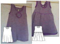 Machine Knit Pinafore pattern - any yarn, any machine, any stitch pattern