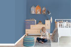 Her er din neste veggfarge - Fargesetting - ifi. Kids Bedroom, Baby Room, Toddler Bed, Kids Rugs, Barn, Children, Interior, House, Furniture