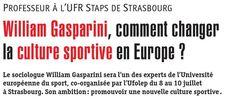 Découvrez l'interview de William Gasparini (Professeur des universités) qui nous présente les #ENJEUX de l'Université Européenne du Sport 2015 #ues2015 @ue_sport #ufolep #usep #laliguedelenseignement #sportpourtous #culturesportive #europe #sport