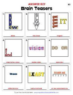 Preview # 2 Brain Teaser Games, Brain Teaser Puzzles, Brain Games, Printable Crossword Puzzles, Rebus Puzzles, Logic Puzzles, Word Games, Math Games, Watermark Ideas