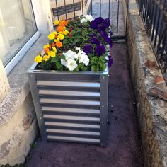 Contemporary Corrugated Metal Raised Garden Bed Metal