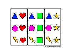 Pro Šíšu: Pracovní listy BARVY TVARY Preschool Activities, Arts And Crafts, Logos, Aurora, Ideas, Kids Math, Math Games, Shapes, Kids Learning