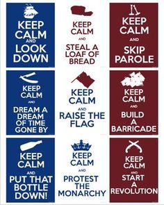 Les Miserables Keep Calm. I've never understood keep calm....