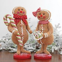 Standing soft gingerbread couple with candy cane and Christmas cake Couple Christmas, Christmas Love, Christmas Themes, All Things Christmas, Christmas Holidays, Christmas Crafts, Christmas Decorations, Christmas Ornaments, Xmas