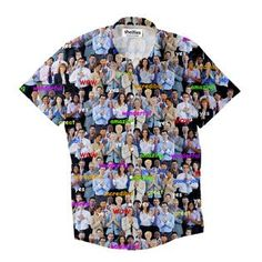 Happy Business Invasion Short-Sleeve Button Down Shirt by Shelfies Button Shirts, Button Down Shirt, Successful Business, Comic Sans, Men Casual, Happy, Mens Tops, Fashion, Moda