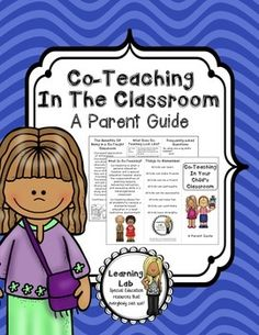 A trifold brochure full of information about co-teaching for parents.