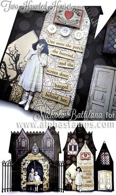 Alpha Stamps News » Haunted Houses and New Halloween (& Christmas) Tim Holtz Items!