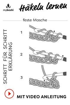 Learn to crochet the single crochet - crafts - knitting and crocheting - . Learn to crochet the single crochet - handicraft - knitting and crochet - Always w. Crochet Unique, Crochet Simple, Double Crochet, Single Crochet, Easy Knitting, Knitting For Beginners, Knitting Patterns, Crochet Patterns, Crochet Crafts