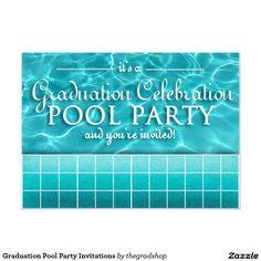 Graduation Pool Party Ideas explore pool party decorations and more Graduation Pool Party Invitations
