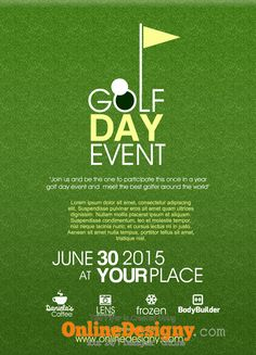 Designing a Golf Tournament Flyer - Bing Images