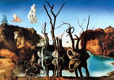Salvador Dali: Swans Reflecting Elephants
