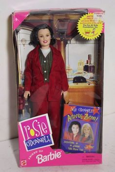 Rosie O Donnell Friends Of Barbie Doll 1999 Mattel 22016 Sealed Vintage Barbie Kleidung, Vintage Barbie Clothes, Barbie Jokes, Celebrity Barbie Dolls, Barbie 1990, Rosie Odonnell, Boxes For Sale, Disney Dolls