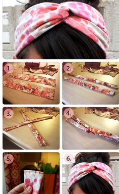 Easy way to make headbands that match your wardrobe. Looking for summer projects.