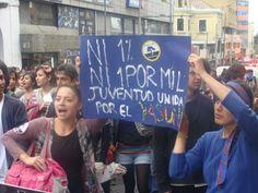Ni 1% ni 1 x 100. Juventud por el Yasuní. Marcha Quito 27 ag 2013