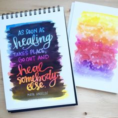 Watercolor backgrounds: Peerless Watercolor Black watercolor: American Journey artist watercolors Masking Pen: Molotow, 2mm Paper: Canson Montval, cold press (notebook and block) ~~~~~~~~~~~~~~~ #lettering #watercolor #peerlesswatercolors #kwdesign365quotes #molotowmaskingpen #molotow
