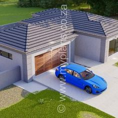 5 Bedroom House Plan – My Building Plans South Africa My Building, Building Plans, Home Design Plans, Plan Design, 5 Bedroom House Plans, House Ceiling Design, Floor Layout, Double Garage, Open Plan