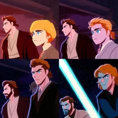 """You were my brother, Anakin!"" Anakin and Obiwan Master and .-""You were my brother, Anakin!"" Anakin and Obiwan Master and Padawan ""You were my brother, Anakin!"" Anakin and Obiwan Master and Padawan - Star Wars Rebels, Star Wars Clone Wars, Star Trek, Star Wars Clones, Star Wars Fan Art, Obi Wan, Star Wars Brasil, Starwars, Neck Tatto"