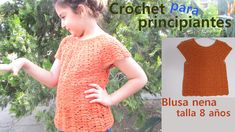 ❤ ✿ Mi Rincón del Tejido ✿ ❤: Como tejer una HERMOSA BLUSA NIÑA a CROCHET paso a paso - How to CROCHET a BEAUTIFUL GIRL BLOUSE Girls Blouse, Crochet Blouse, Crochet Patterns, Short Sleeve Dresses, Spring Summer, Beautiful, Collection, Margarita, Top