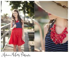 Classic Red and Navy - oh, and the hat!!!