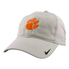 8cdef3198d8d2 Clemson Tigers Nike Tiger Paw Khaki Unisex Golf Hat  clemson