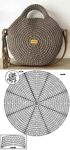 Make and profit: 26 models of crochet bag with graphic - 26 Beautiful Crochet B. - Make and profit: 26 models of crochet bag with graphic – 26 Beautiful Crochet B… Make and profit: 26 models of crochet bag with graphic – 26 Beautiful Crochet B…, Crochet Round, Crochet Motif, Crochet Baby, Knit Crochet, Crochet Patterns, Beau Crochet, Crochet Designs, Diy Crochet Bag, Afghan Patterns