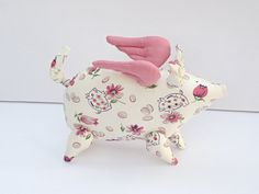 When pigs fly Flying pig  softie stuffed by HappyDollsByLesya, $28.00