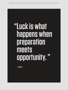 Luck - Motivational Quote  -RedBeardLabs.com