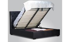 10 Spacious DIY Platform Bed Plans Suited to Any Cramped Budget - Times Decor Diy Platform Bed Plans, Best Platform Beds, Platform Bed With Storage, Lift Storage Bed, Bedroom Storage, Leather Bed, Black Leather, Bed With Drawers, Design Moderne