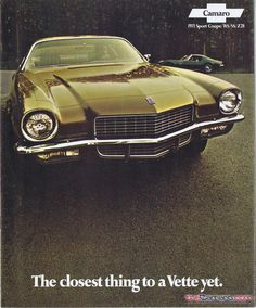 1971 Camaro Dealer Brochure. View the 1971 Camaro Dealer Showroom Brochure and its pages.