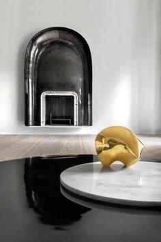 Trocadero Apartment, Paris, by Francois Champsaur - undulating wood dividers, Dinesen floors and Eric Schmitt bronze elements