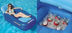 Bebida gelada na piscina