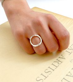 Oval Sterling Silver Ring