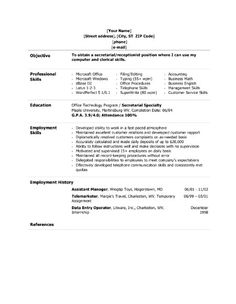resume sample administrative assistant free letter resume