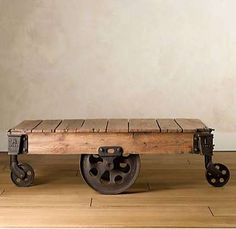 Old Industrial cart table