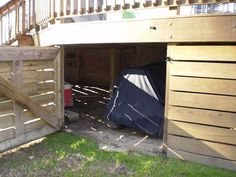 under the back deck...storage? YES please