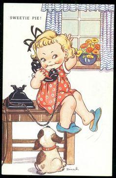 Antieke Raphael Tuck 1931 Birthday Greetings~Postkaart~..................    lb xxx.  MLAttwell? weet niet zeker!!