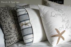 coastal inspired cushion covers