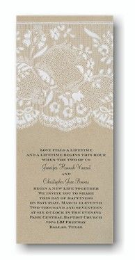 Homespun Bridal Wedding Invitation
