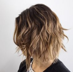 Shaggy brown blonde bob by Charlie Price