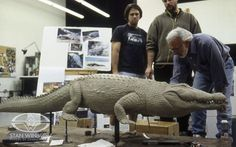 Stan Winston gives artistic input to SWS sculptors Rob Ramsdell and Nick Marra.