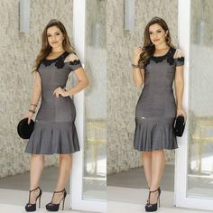 Image may contain: 2 people Pretty Dresses, Beautiful Dresses, Dresses For Work, Western Dresses, African Fashion Dresses, How To Look Classy, Latest Fashion For Women, I Dress, Dress Patterns