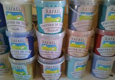 CHALK PAINT Rafael Pintura Tiza 16€ for 1400ml. No sanding or priming required before painting. Excellent results, fast drying time, very easy to use on furniture, walls, floors etc. Will cover almost any type of surface.  http://www.chicitup.org