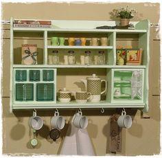 Wandregal, Handtuchhalter, Küche, shabby, weiß | Products, Shabby ...