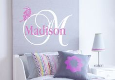 Gils Decor Wall Decal Name with Butterfly Baby by FineArtDecals, $19.90