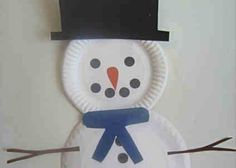 Christmas Crafts for 2 Year Olds | Snowman Craft for 2/3 year olds - CafeMom