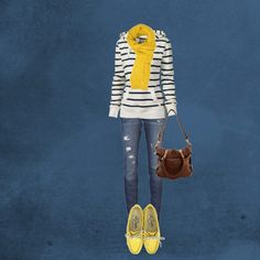 Polyvore Outfit....get rid of the yellow and make it red. ;0)