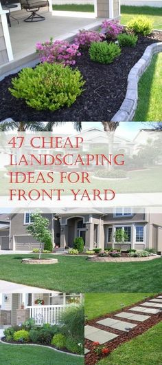 Simple, easy and cheap DIY landscaping ideas for front yards. #Landscapingandoutdoorspaces