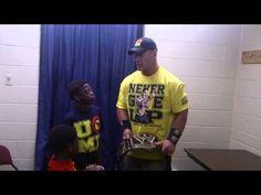 Meeting John Cena at RAW World Tour at Fort Worth
