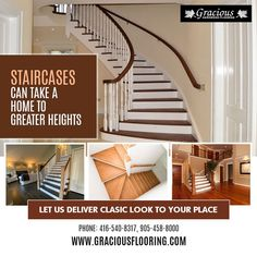 If you are looking for best wood stair treads, hardwood steps, stair treads and other stair products in Brampton. Gracious Hardwood Flooring Inc. have a wide variety of stair products with fine quality. PHONE: 416-540-8317, 905-458-8000 EMAIL: GRACIOUSHARDWOOD@YAHOO.COM Wood Stair Treads, Wood Stairs, Cheap Hardwood Floors, Flooring, Phone, Home Decor, Products, Wooden Ladders, Wooden Staircases